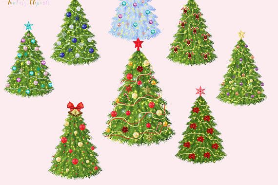 Christmas Trees Clipart example image 1
