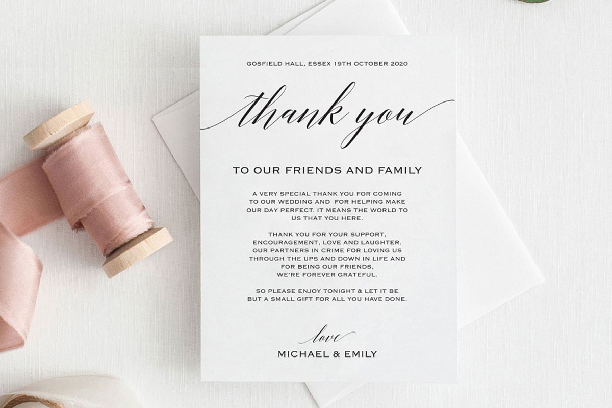 Thank You Card example image 1