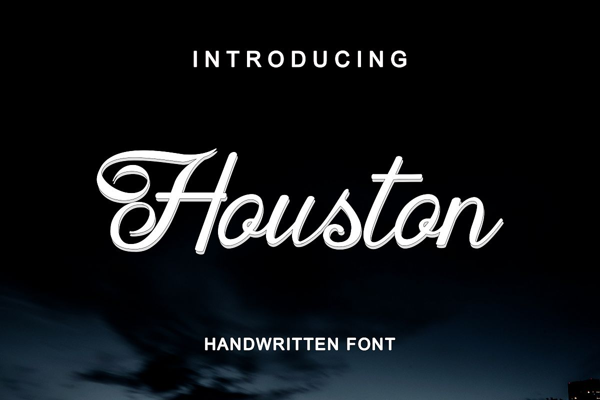 Houston Handwritten Font example image 1