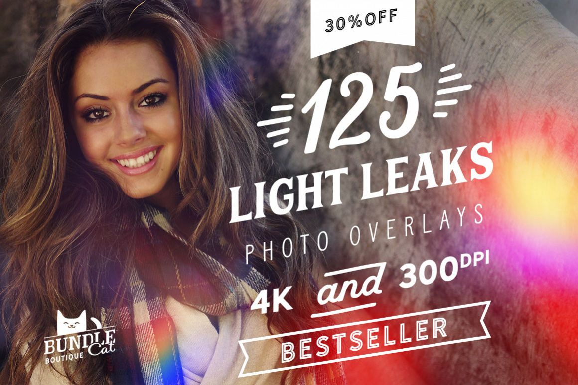 125 Light Leaks Photo Overlays example image 1