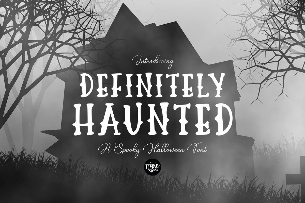 DEFINITELY HAUNTED A Spooky Halloween .OTF Font example image 1