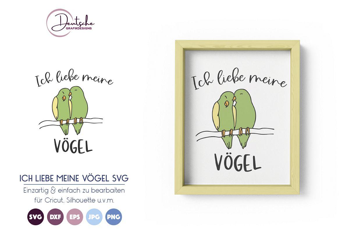 Ich liebe meine Vögel SVG example image 1