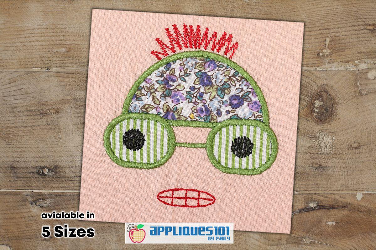Minion Face Machine Embroidery Applique Design - Cartoons example image 1