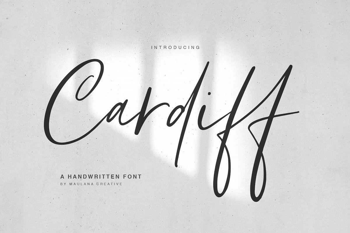Cardiff Typeface example image 1