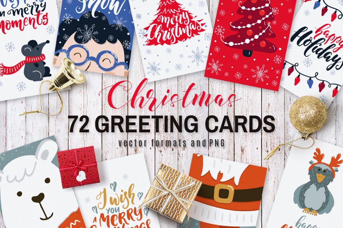 72 Christmas cards example image 1