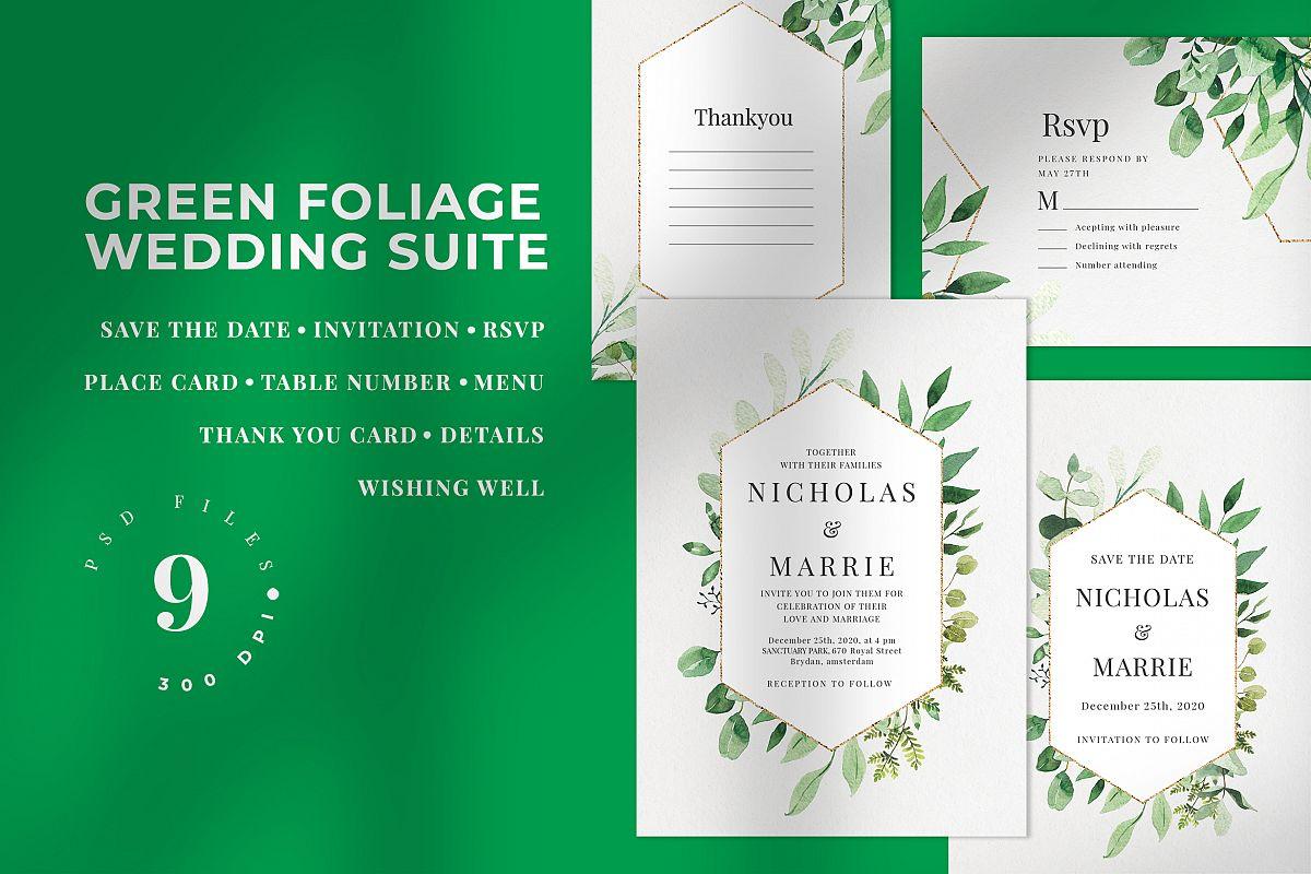 Green Foliage Wedding Suite example image 1