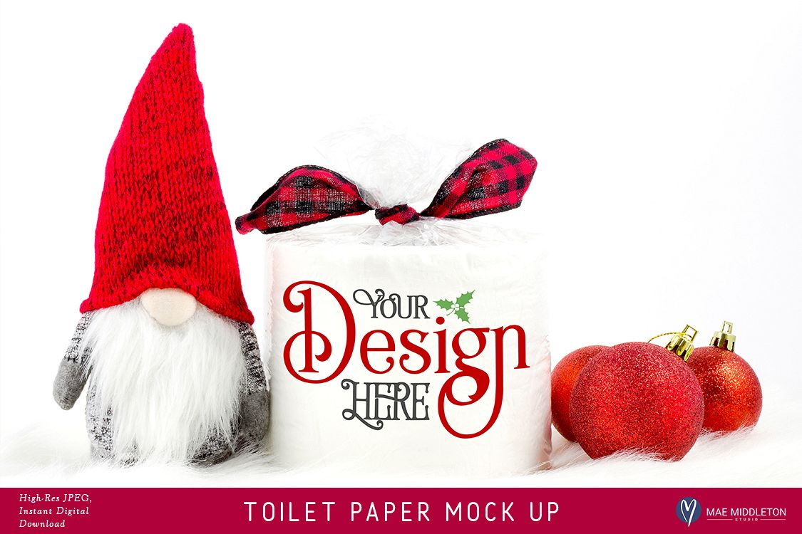 Toilet Paper Roll Mock up for Christmas example image 1
