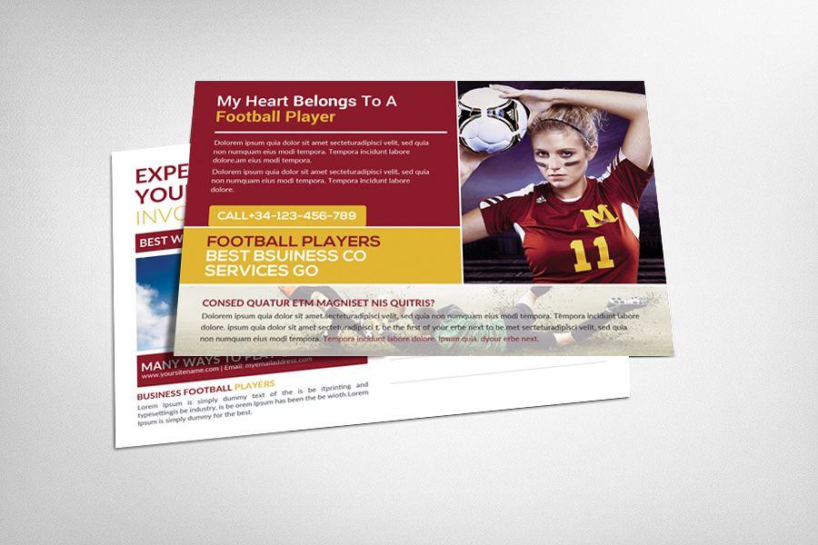 Football Players Postcard Template example image 1