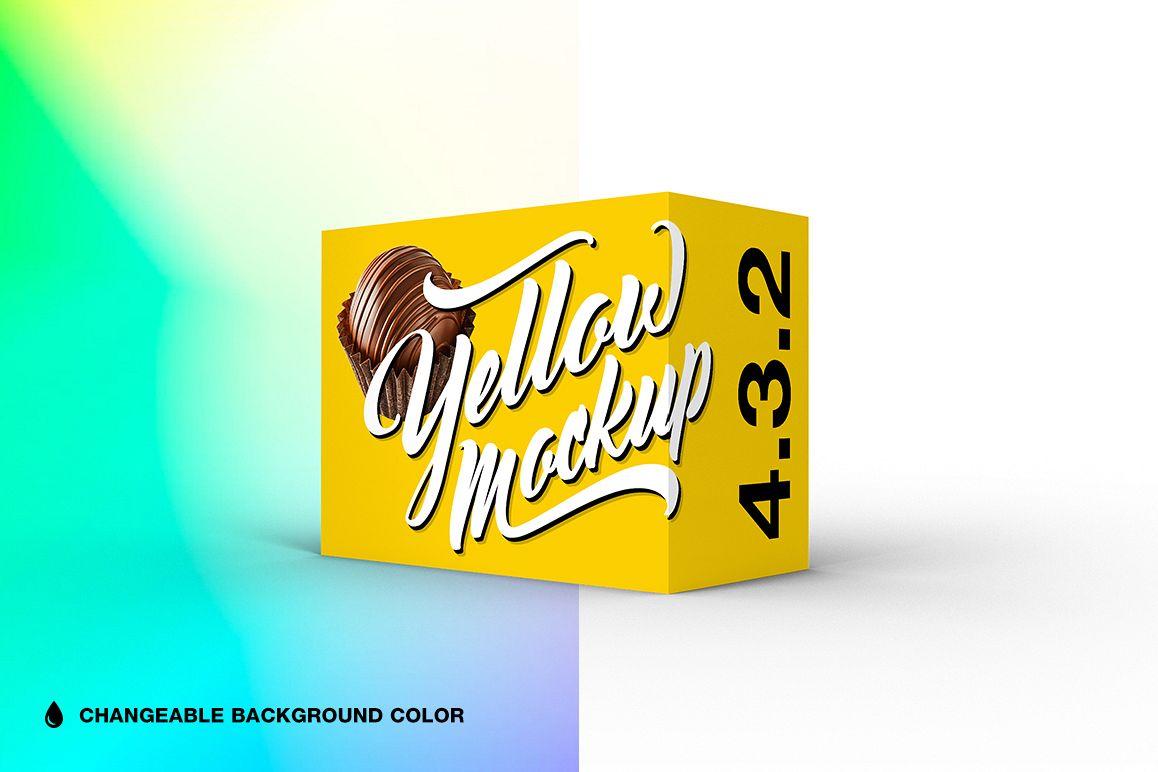 4.3.2 Simple 3D Box Mockup PSD example image 1