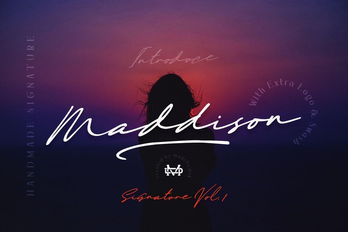 Maddison - Handmade Signature example image 1