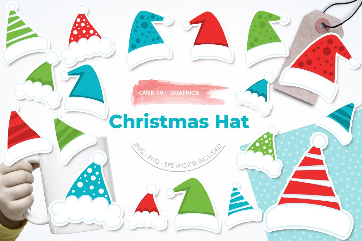 Christmas Hat graphic and illustrations example image 1
