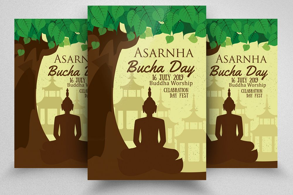 Asarnha Bucha Day Flyer Template example image 1