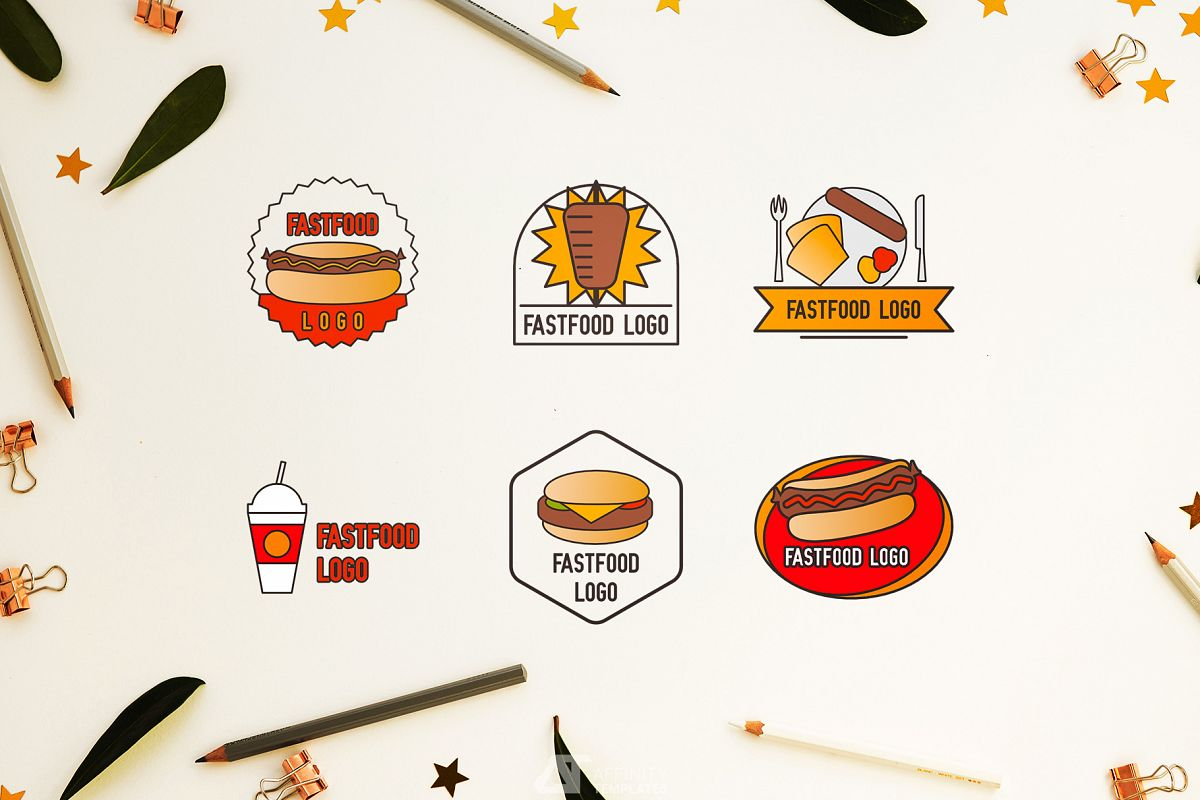 Fast Food Small Restaurant Logos example image 1
