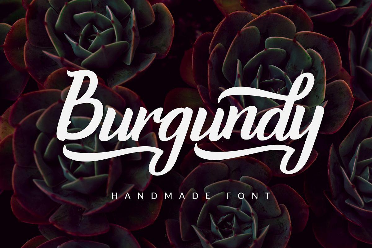 Burgundy - Handmade Font example image 1
