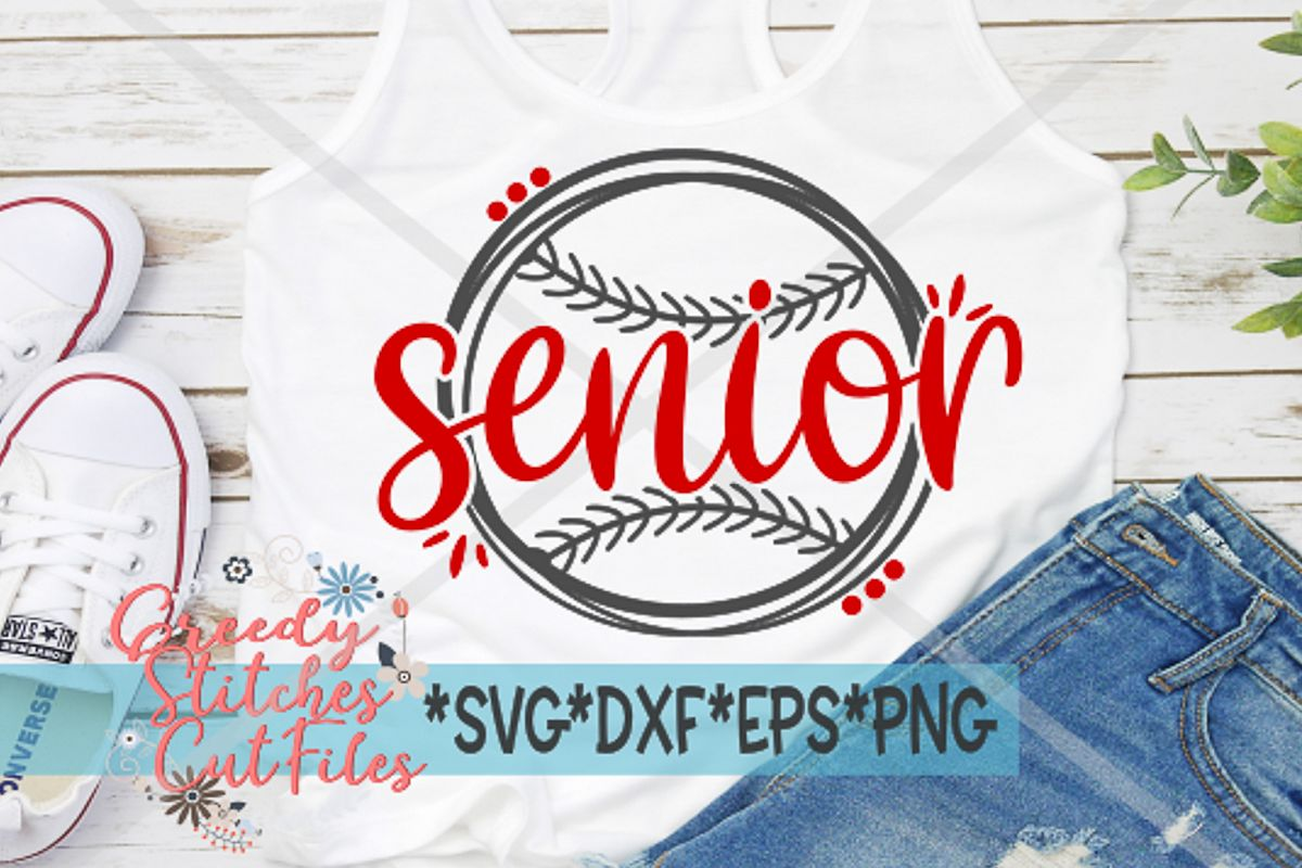 Senior Softball SVG, DXF, EPS, PNG Files example image 1