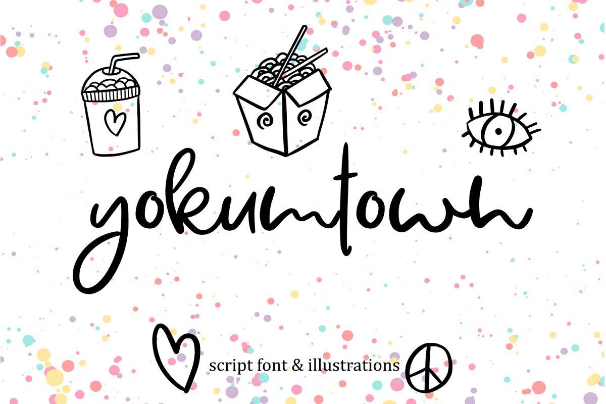Yokumtown Script Font & Doodles example image 1