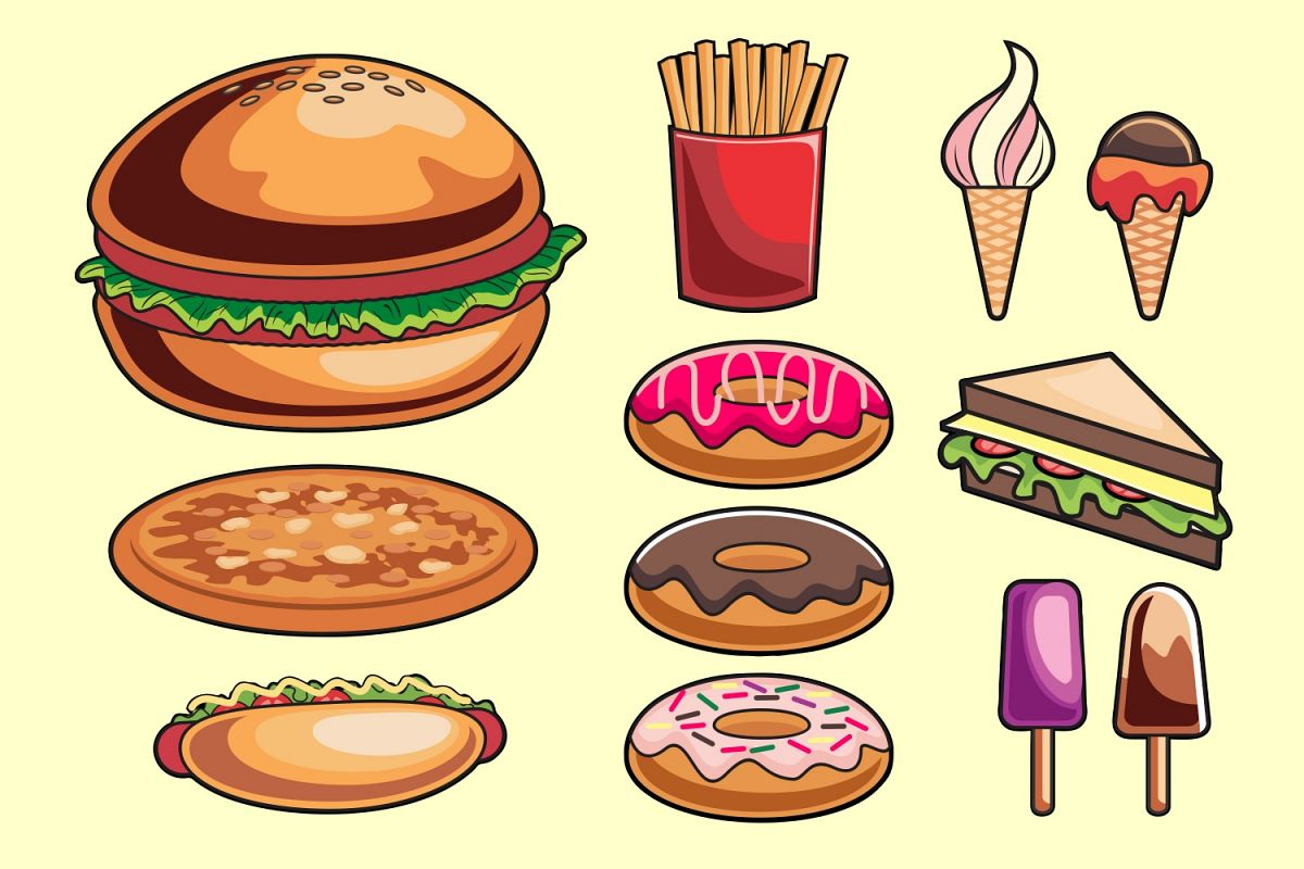 Junk Food Vector Pack example image 1