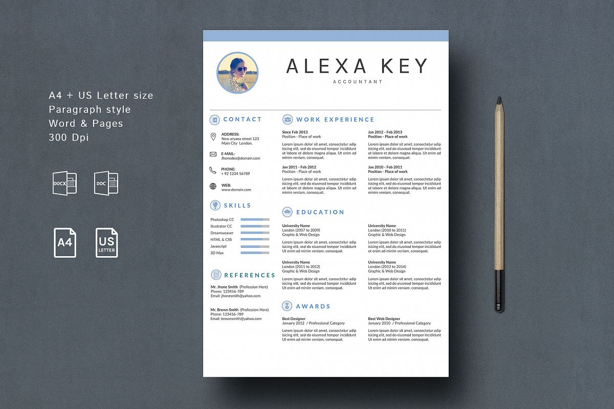 Professional Resume Template example image 1