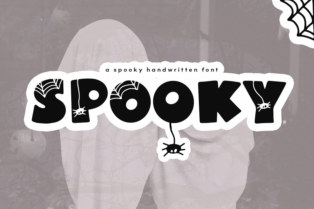 Spooky - A Quirky Halloween Font example image 1