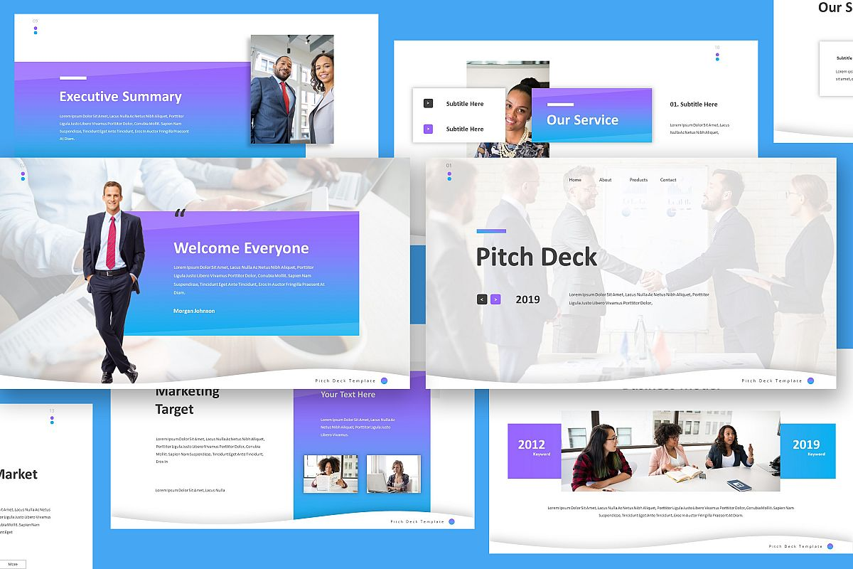 Pitch Deck Keynote Template example image 1