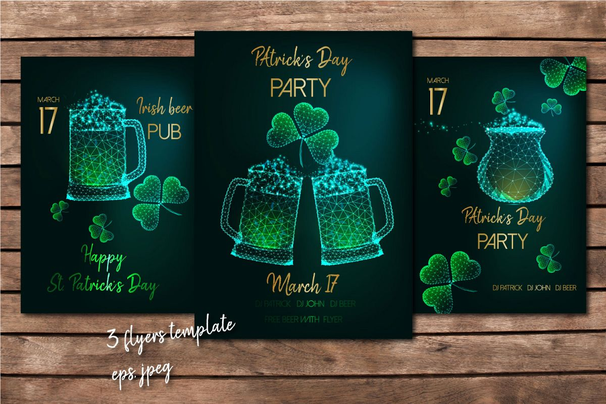 St. Patrick's Day flyers. example image 1