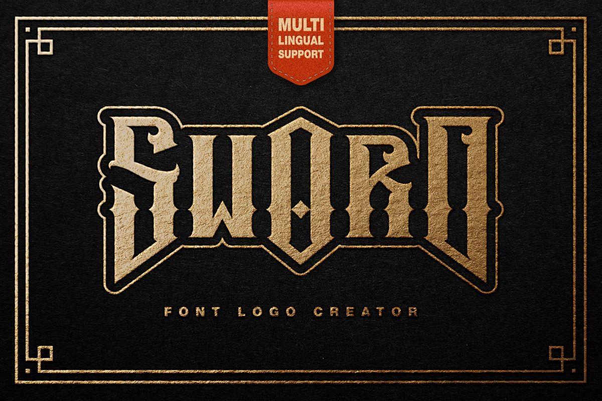 Sword Font Logo Creator example image 1