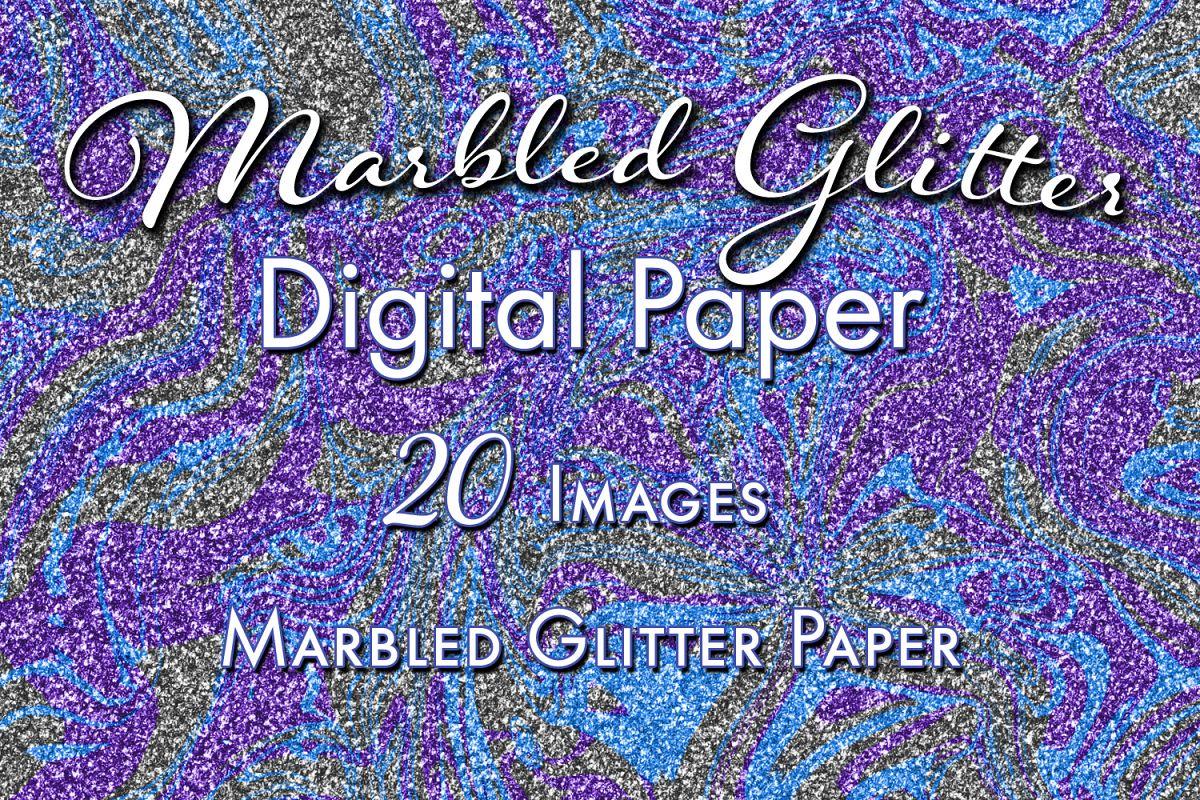 marbled glitter 20 digital paper imag design bundles