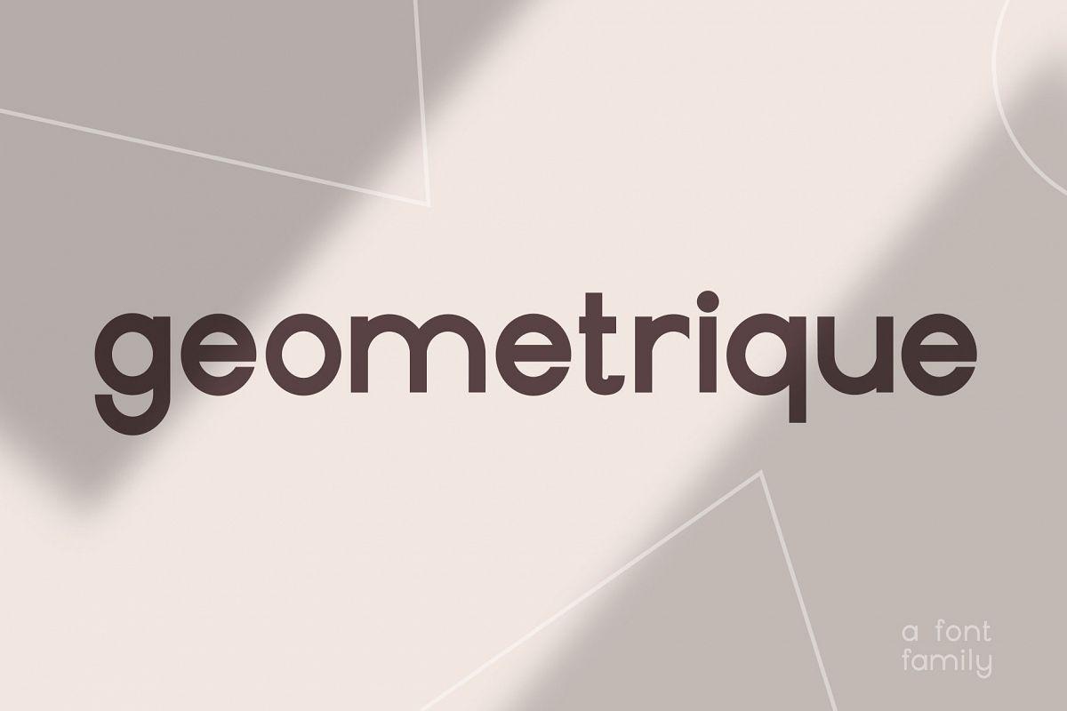 Geometrique | Sans Font Family example image 1