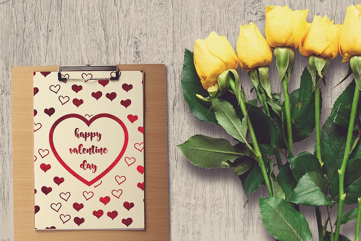 Valentine A4 Letter Mock-up #21 example image 1