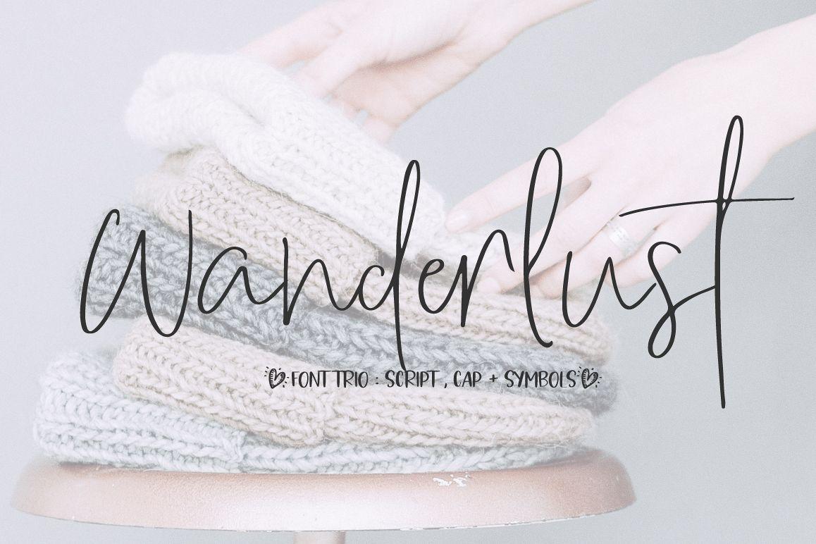 Wanderlust script font example image 1