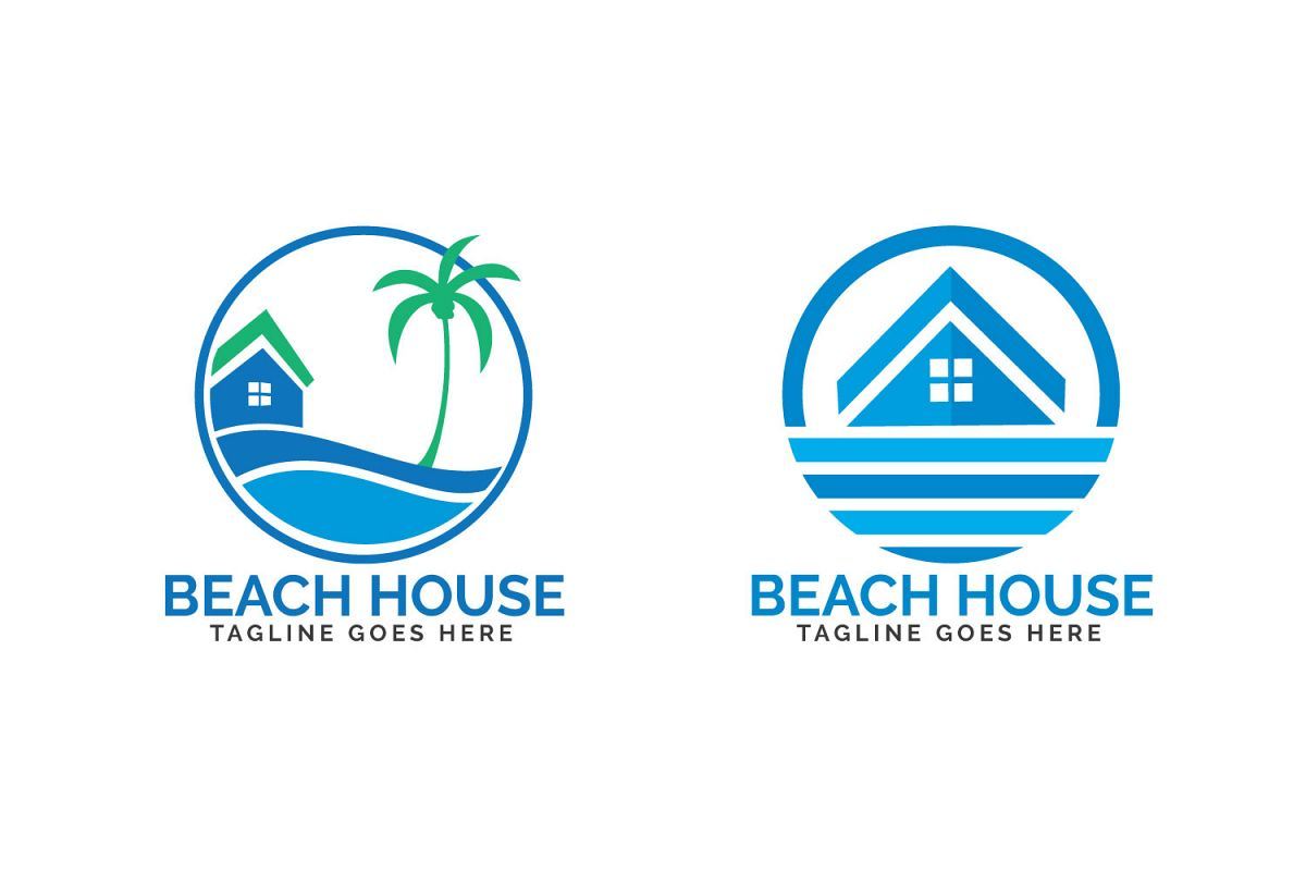 Beach House Logo Design Example Image 1