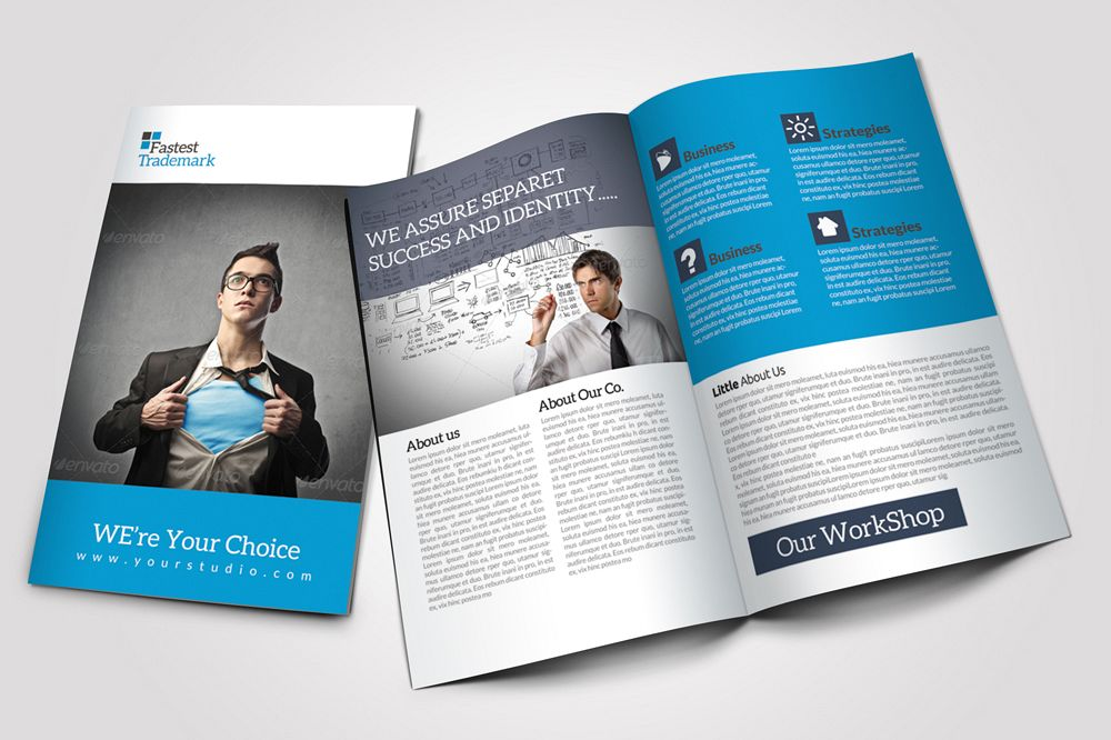 8 pages business corporate bifold brochure