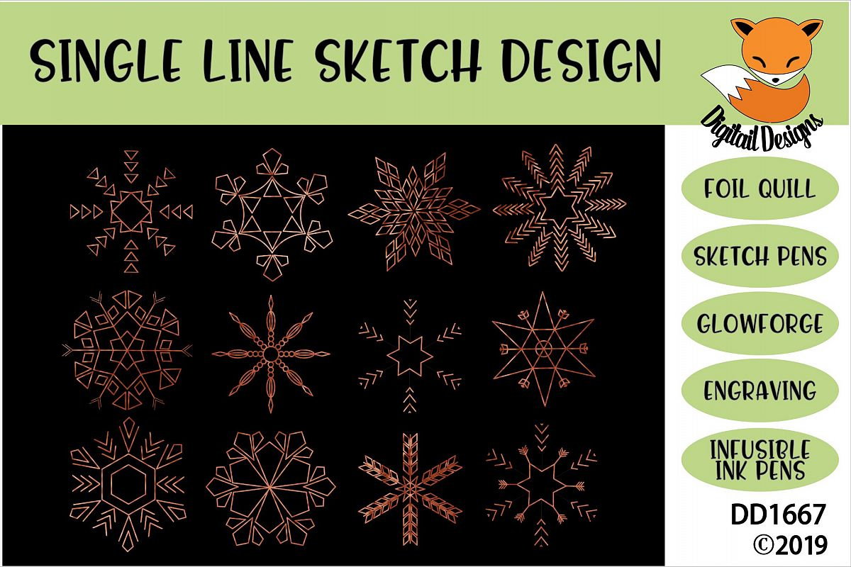Foil Quill Snowflake Bundle example image 1