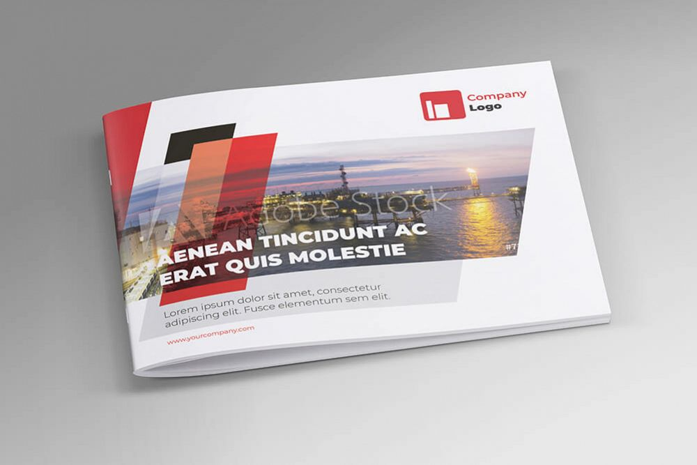 Offshore Oil and Gas Booklet Design Template example image 1