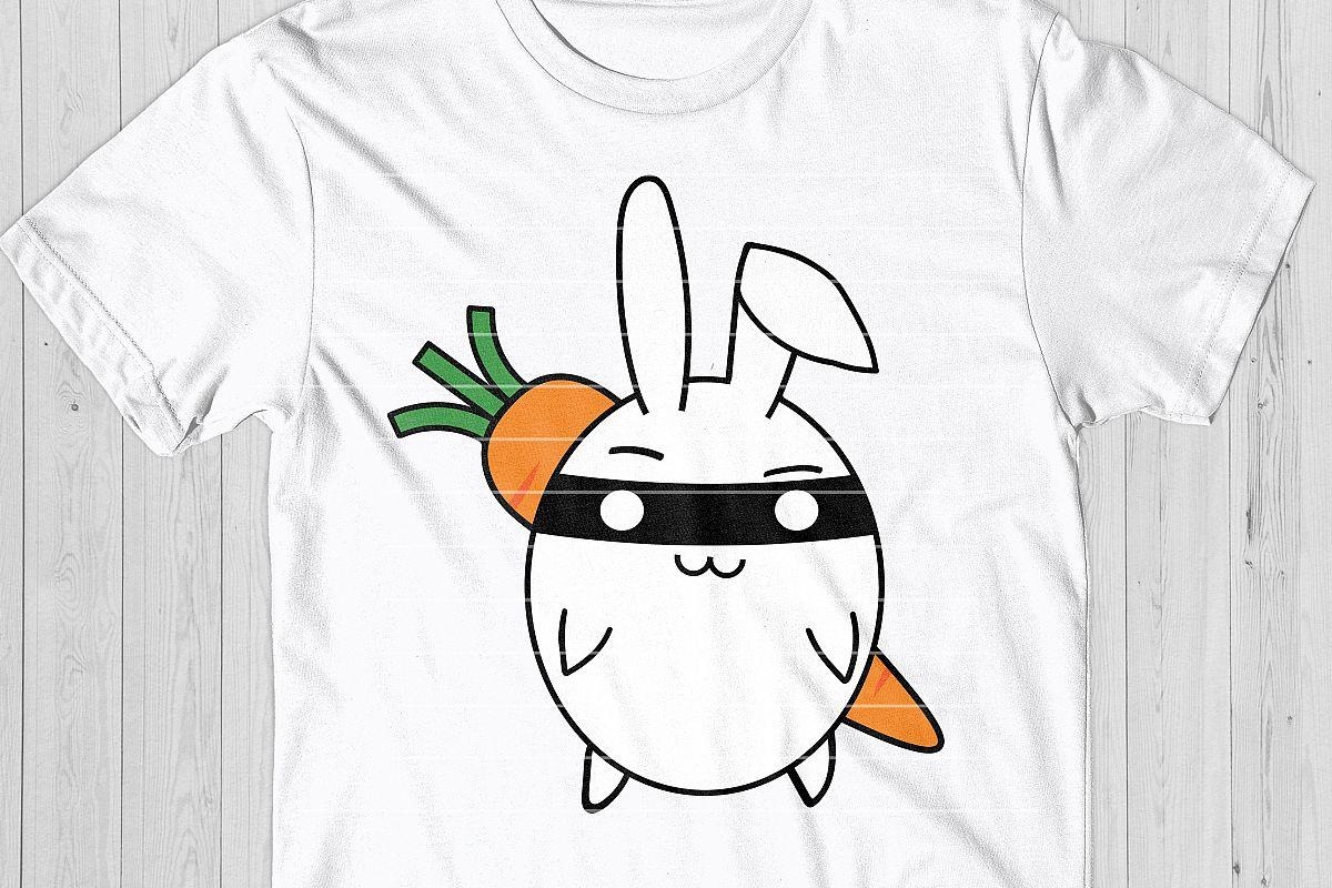 Ninja Bunny SVG Cut File example image 1