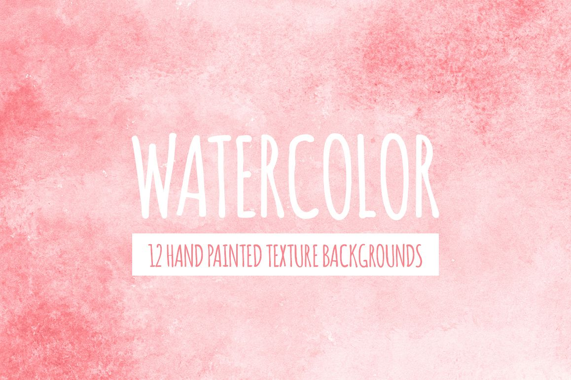 Coral Red Watercolor Texture Backgrounds example image 1