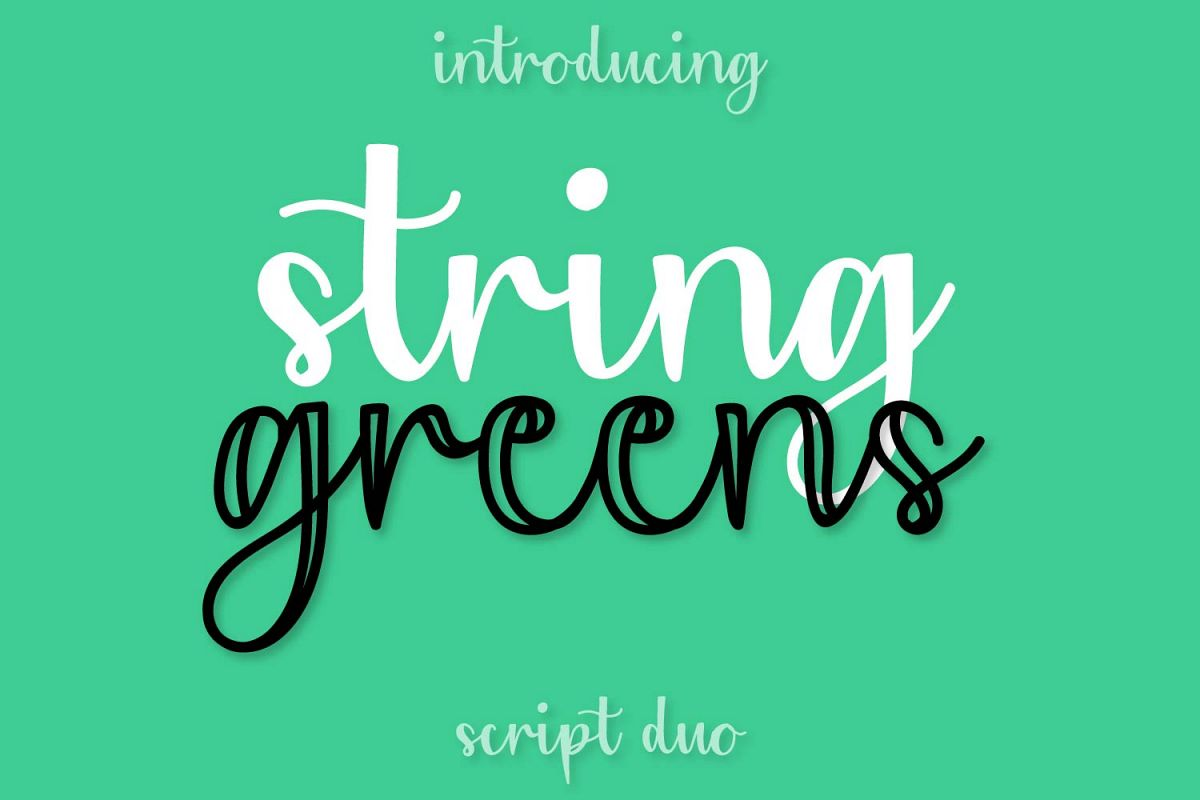 String Greens - A Fun Script Duo example image 1