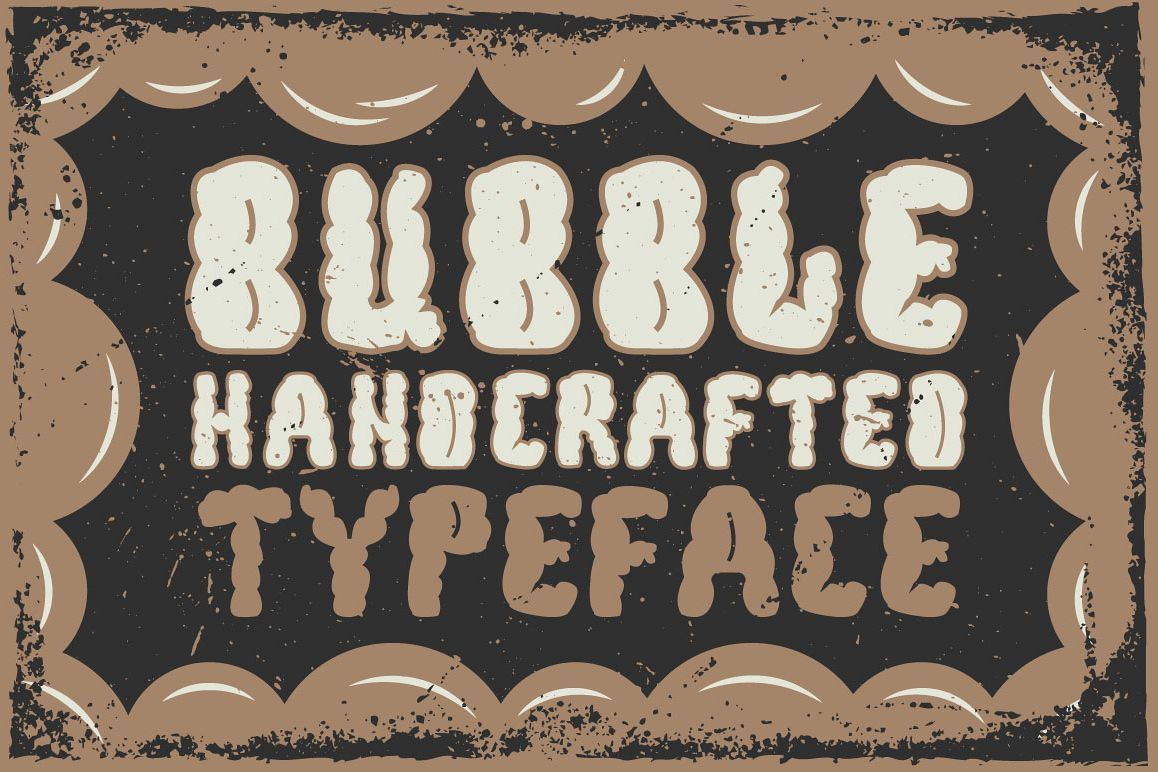 Bubble handcrafted typeface example image 1