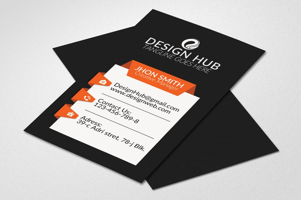 Stylish Vertical Business Cards  example image 1