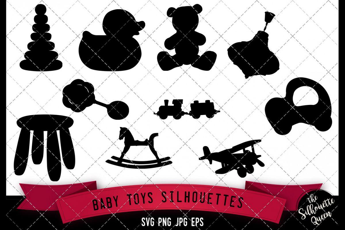 Baby Toys Silhouette Svg Cricut Clipart Vector Eps Cut F