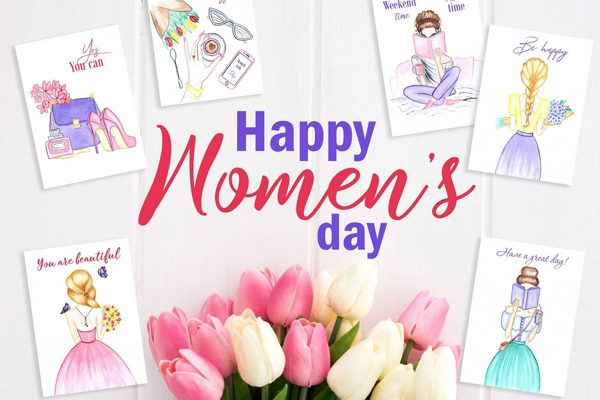 Women's day Card. 8 March example image 1
