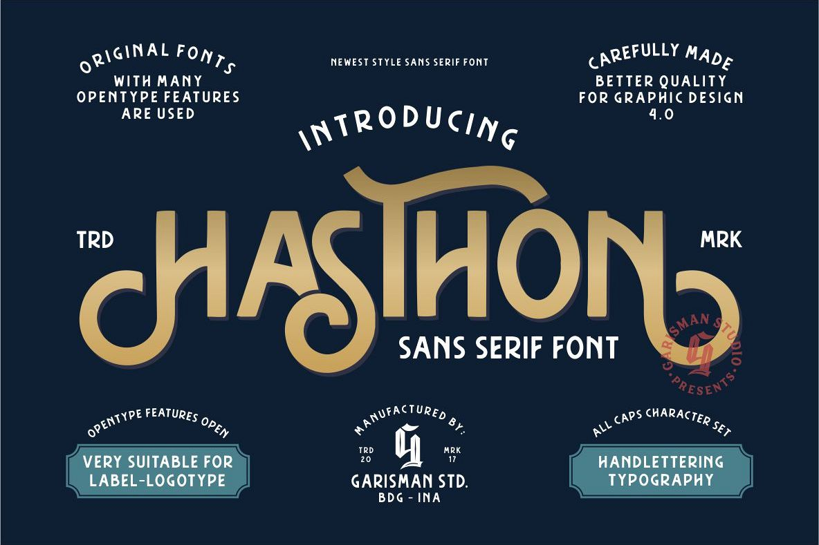 Hasthon - Vintage Fonts example image 1