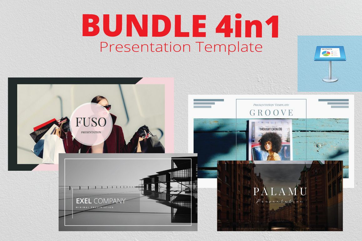 4in1 Bundle Keynote Template example image 1