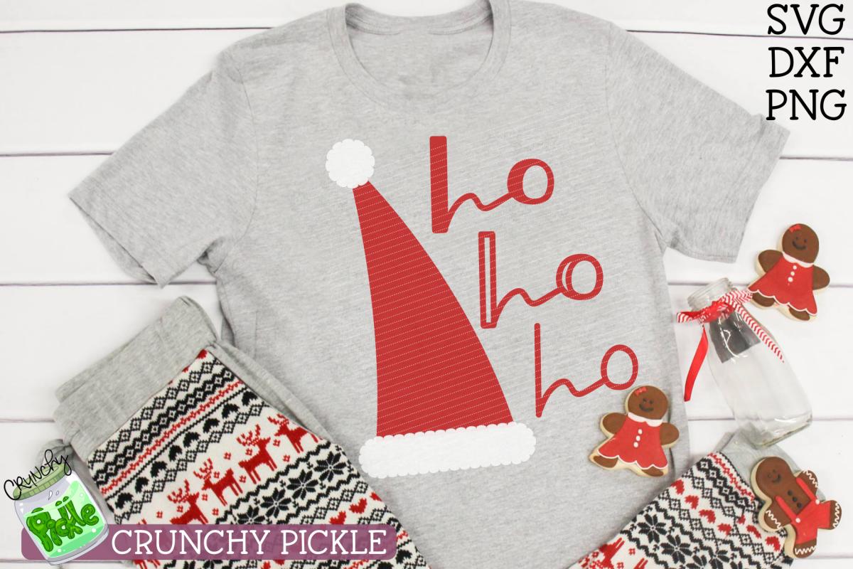 Santa Claus Ho Ho Ho Hat Christmas SVG File example image 1