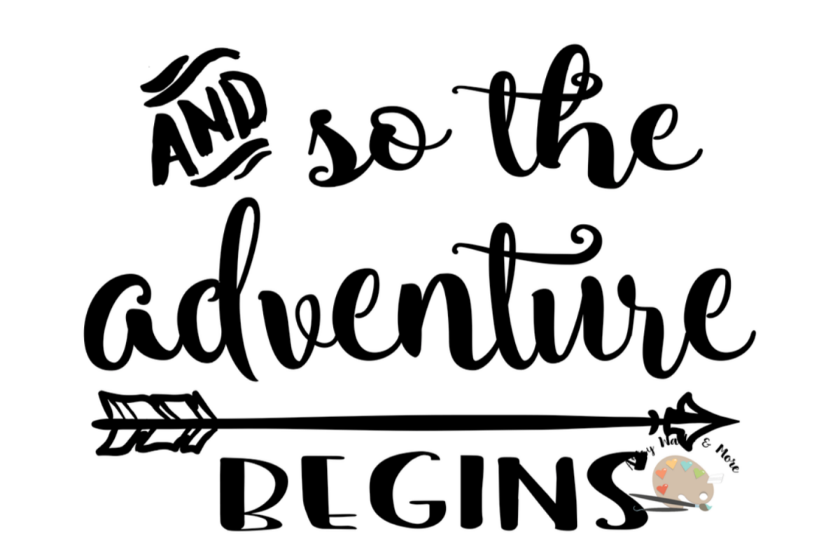 and so the adventure begins svg file  baby wedding engaged