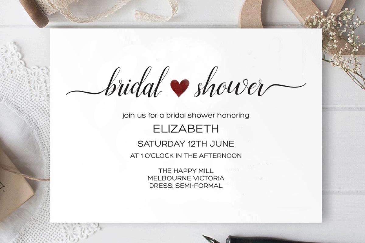 Bridal Shower Invitation Instant Download Bridal Shower