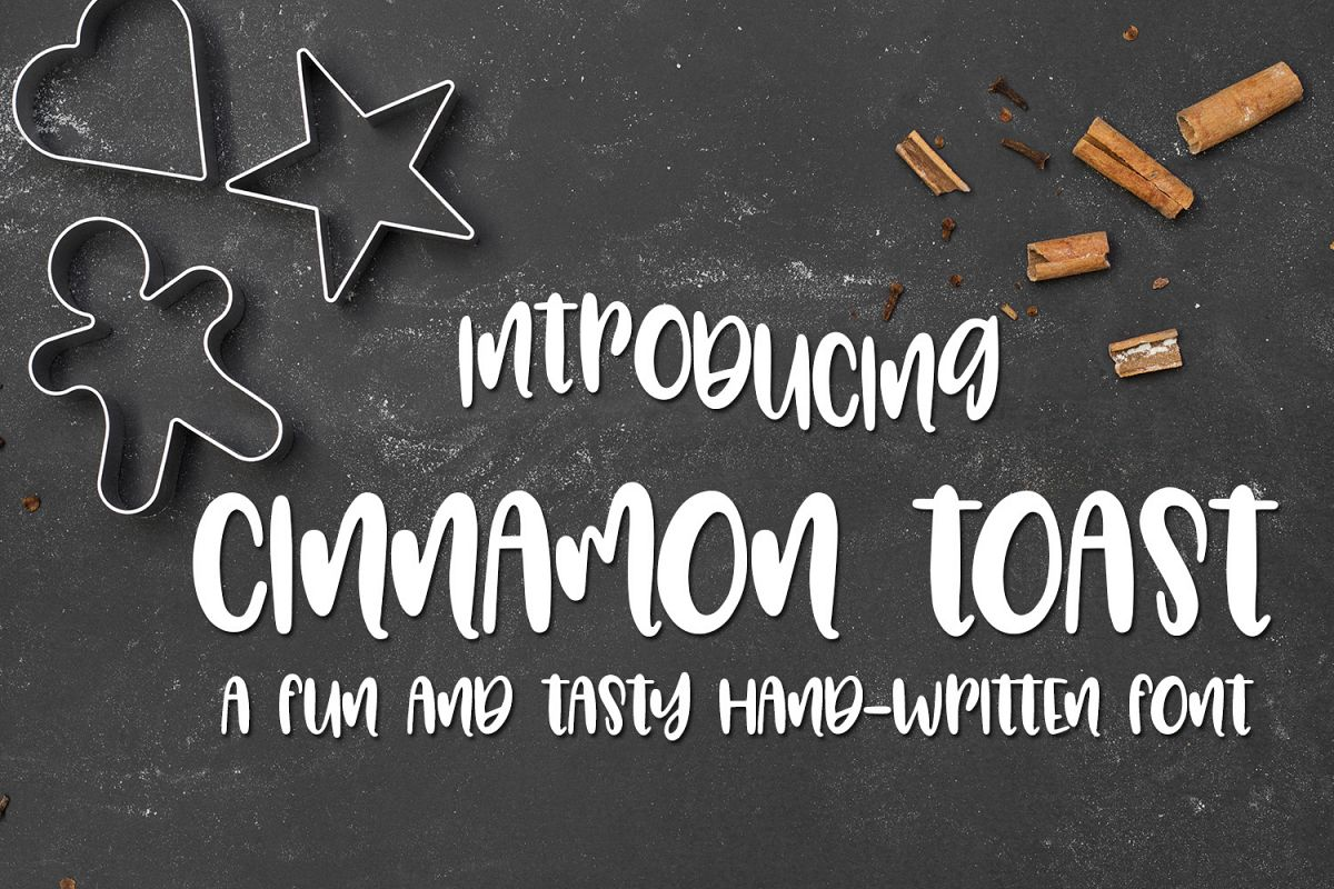 Cinnamon Toast - A Tasty Hand-Written Font example image 1