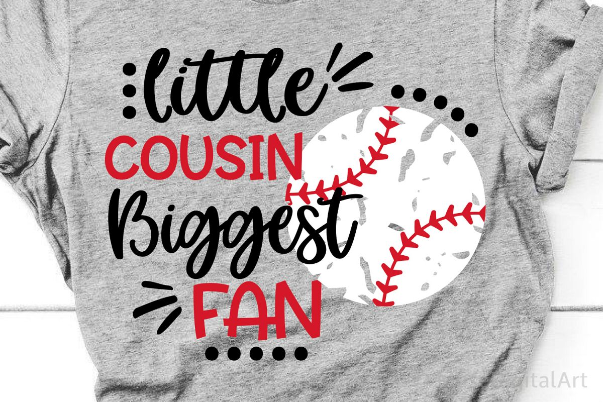 Baseball Cousin Svg, Baseball Svg Little Brother Biggest Fan example image 1