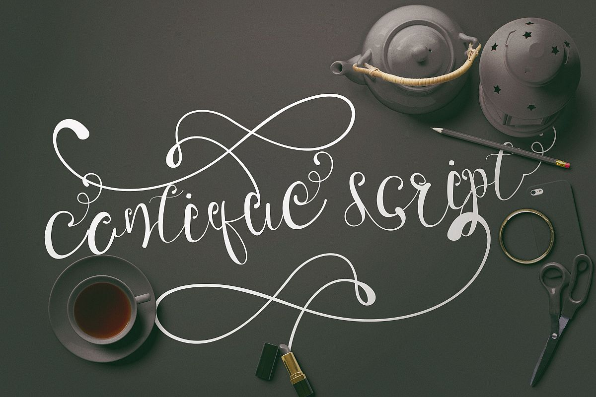 Cantique Script Calligraphy example image 1