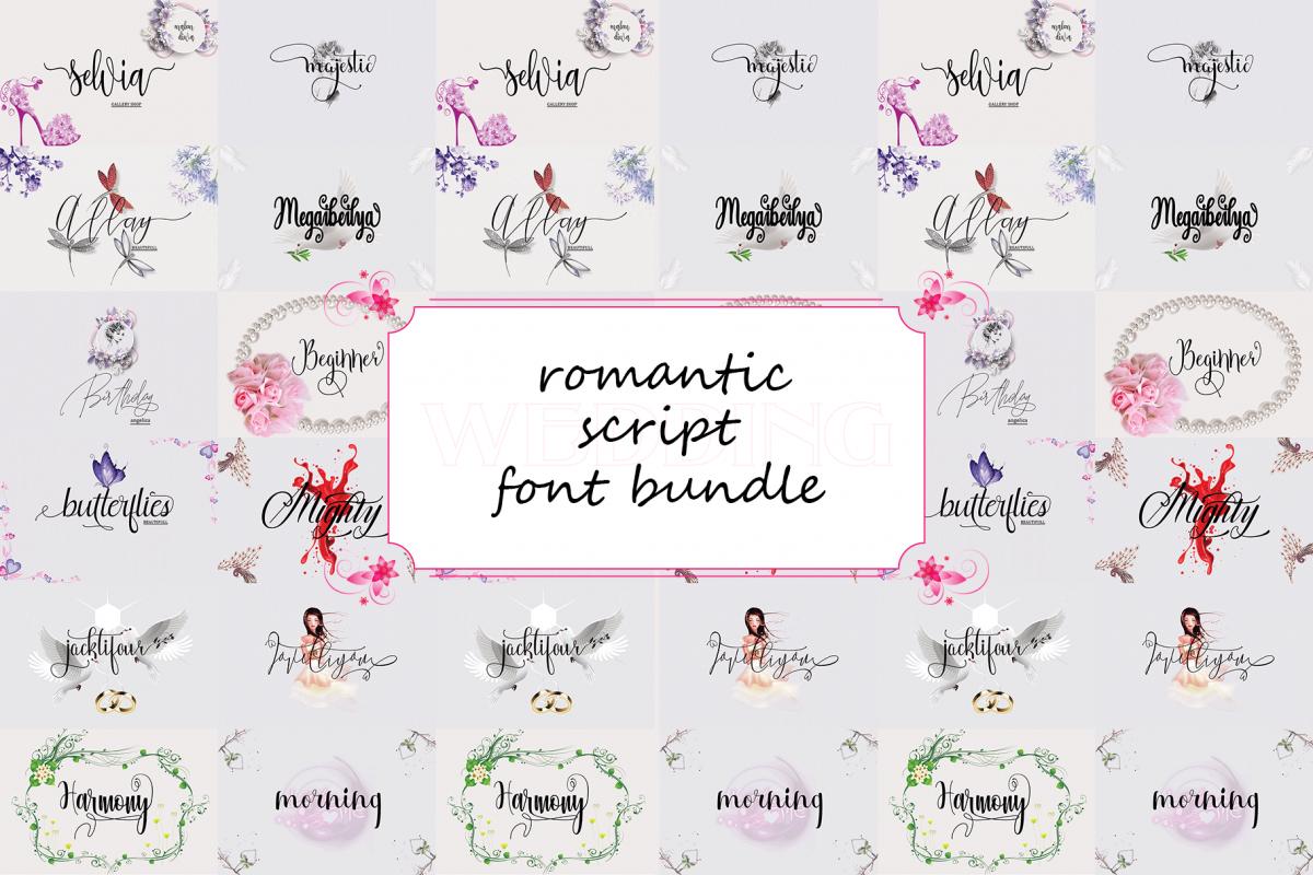 Romantic Script Font Bundle example image 1